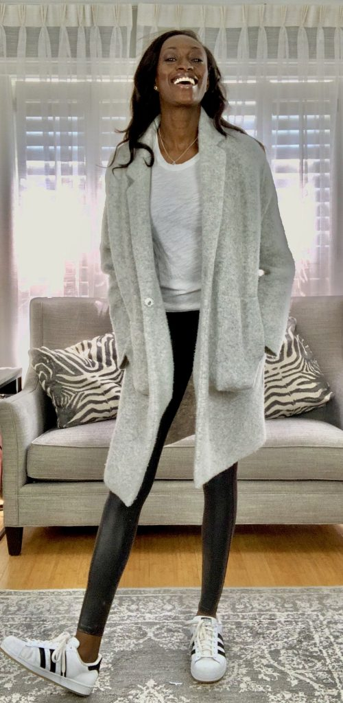 Why is is so tough for Tall Girls to find Outfits with Faux Leather Leggings? Get ideas for fall outfits and more style inspiration featuring Spanx leggings. #womensfashion #falloutfits #outfitideas #winteroutfits #autumnoutfits